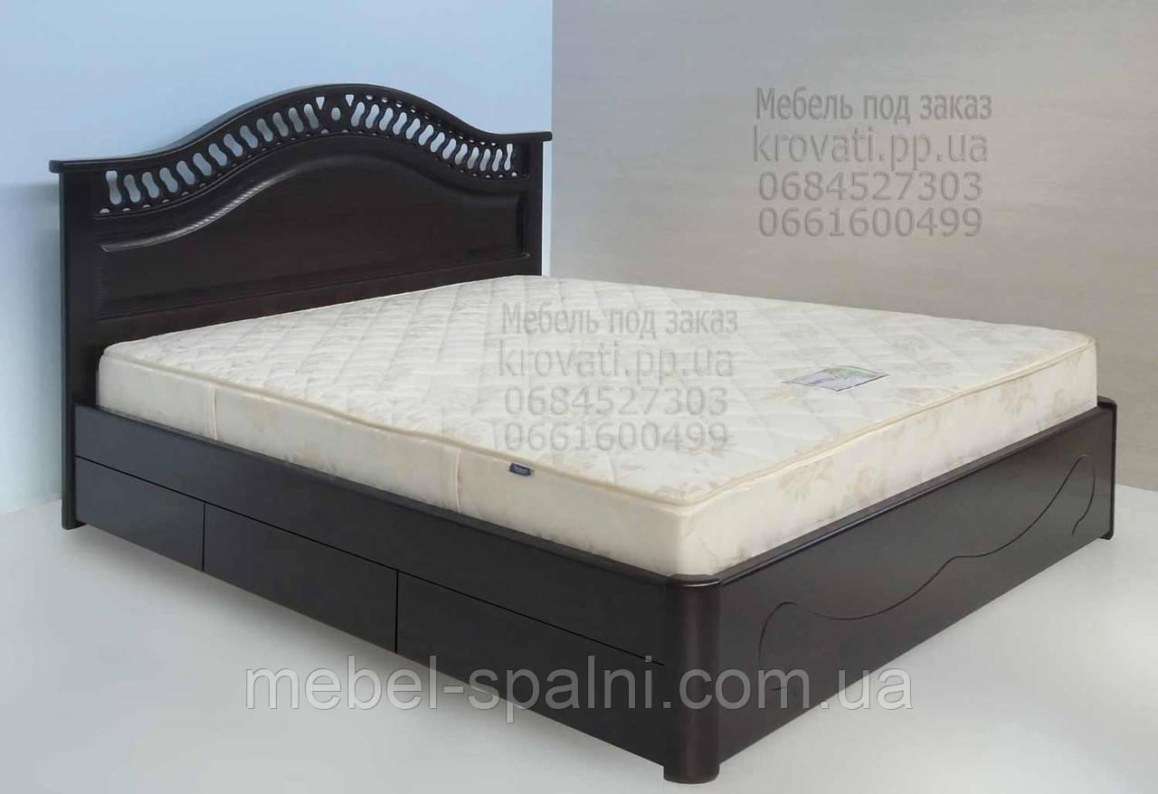 """Кровать в Херсоне деревянная полуторная с ящиками """"Глория"""" kr.gl5.1"""