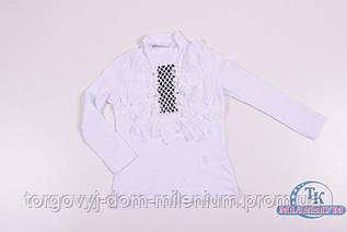 Водолазка для девочки комбинированная (цв.белый) 5155 Рост:98