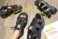 Женские босоножки черные на платформе,37 р