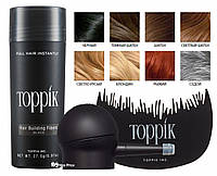 Кератиновый загуститель для волос Toppik 27,5г аппликатор гребешек