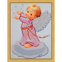 Вышивка схема бисером, Канва Ангелы Ангелок на облачке