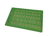 Зелений тренажер для письма - Візерунок