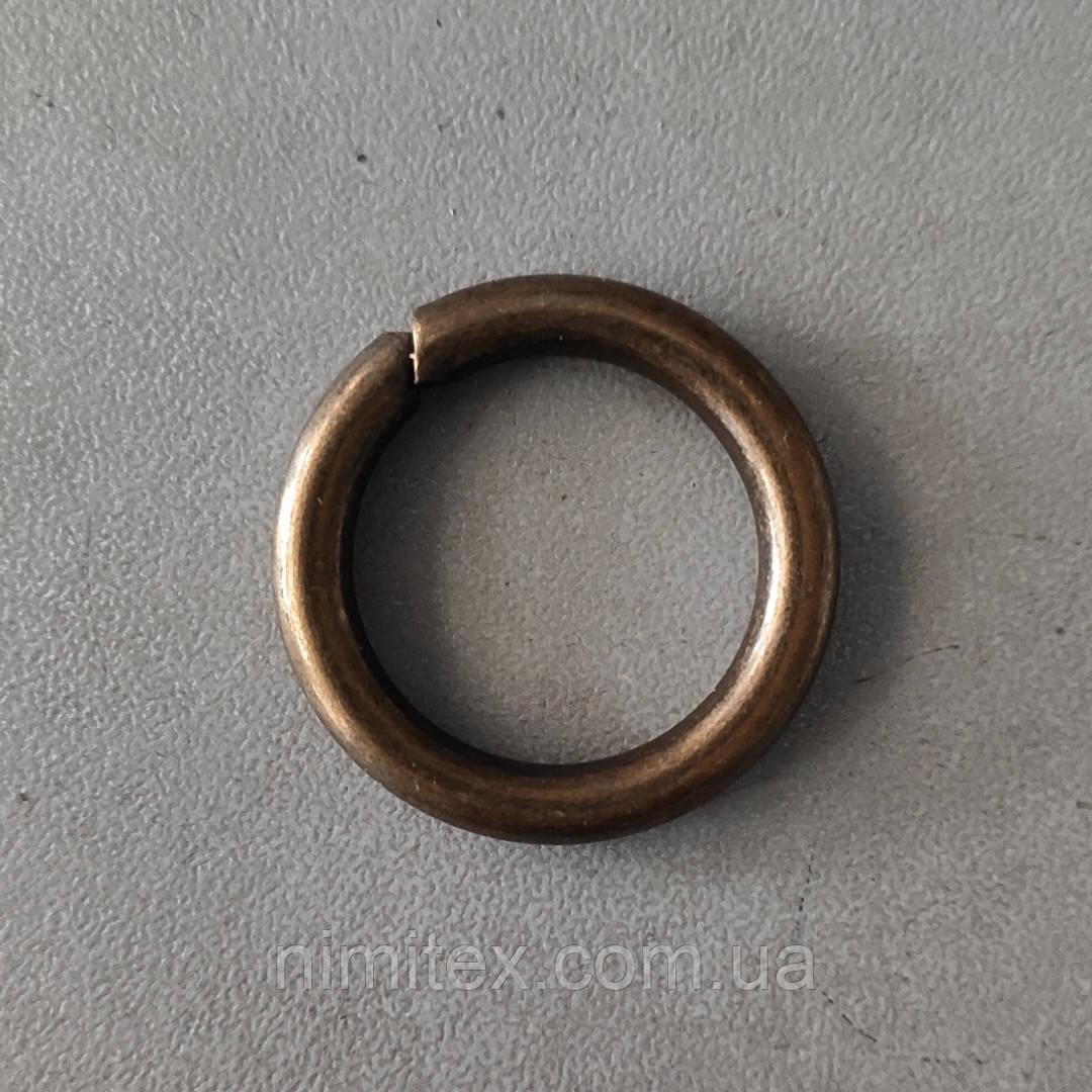 Кольцо литое сварное 20 мм антик