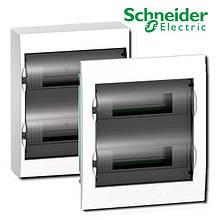 Щит розподільчий білий, двері прозора на 24 модуля IP40, Schneider Electric Easy9