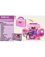 Домик игрушечный, с аксессуарами и куклой, NM83101