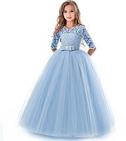 Праздничное платье небесное. Celebratory dress heavenly