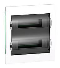 Щит розподільчий білий, двері прозора на 24 модуля IP40, Schneider Electric Easy9 Врізний