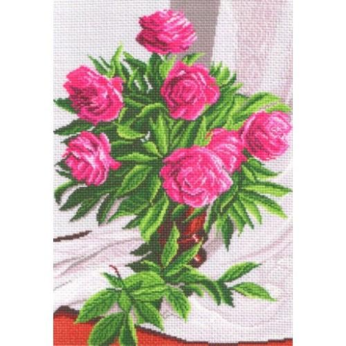 Вышивка крестом, цветы, натюрморт нитками Вдохновение