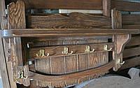 Вешалка для бани и сауны под старину из массива