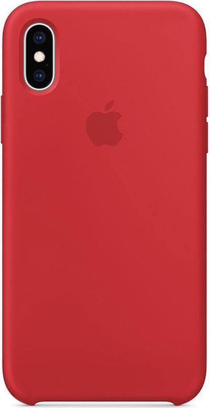 Чехол Apple Silicone Case - для iPhone X/XS Red