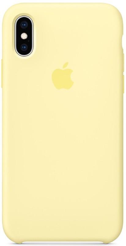 Чехол Apple Silicone Case - для iPhone X/XS Yellow
