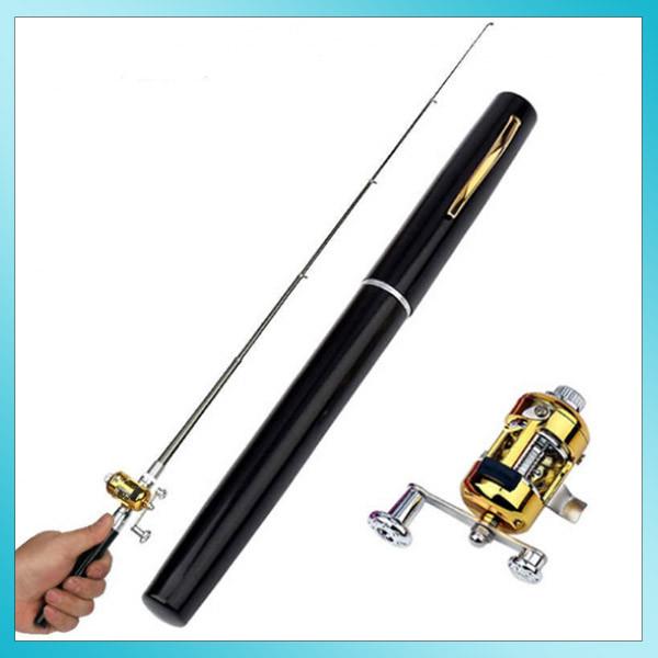 Удочка складная телескопическая в виде ручки портативная Fishing Rod