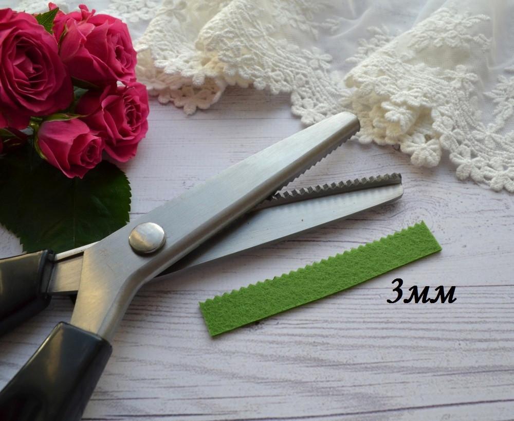Фигурные ножницы зиг-заг  3мм для рукоделия шитья скрапбукинга
