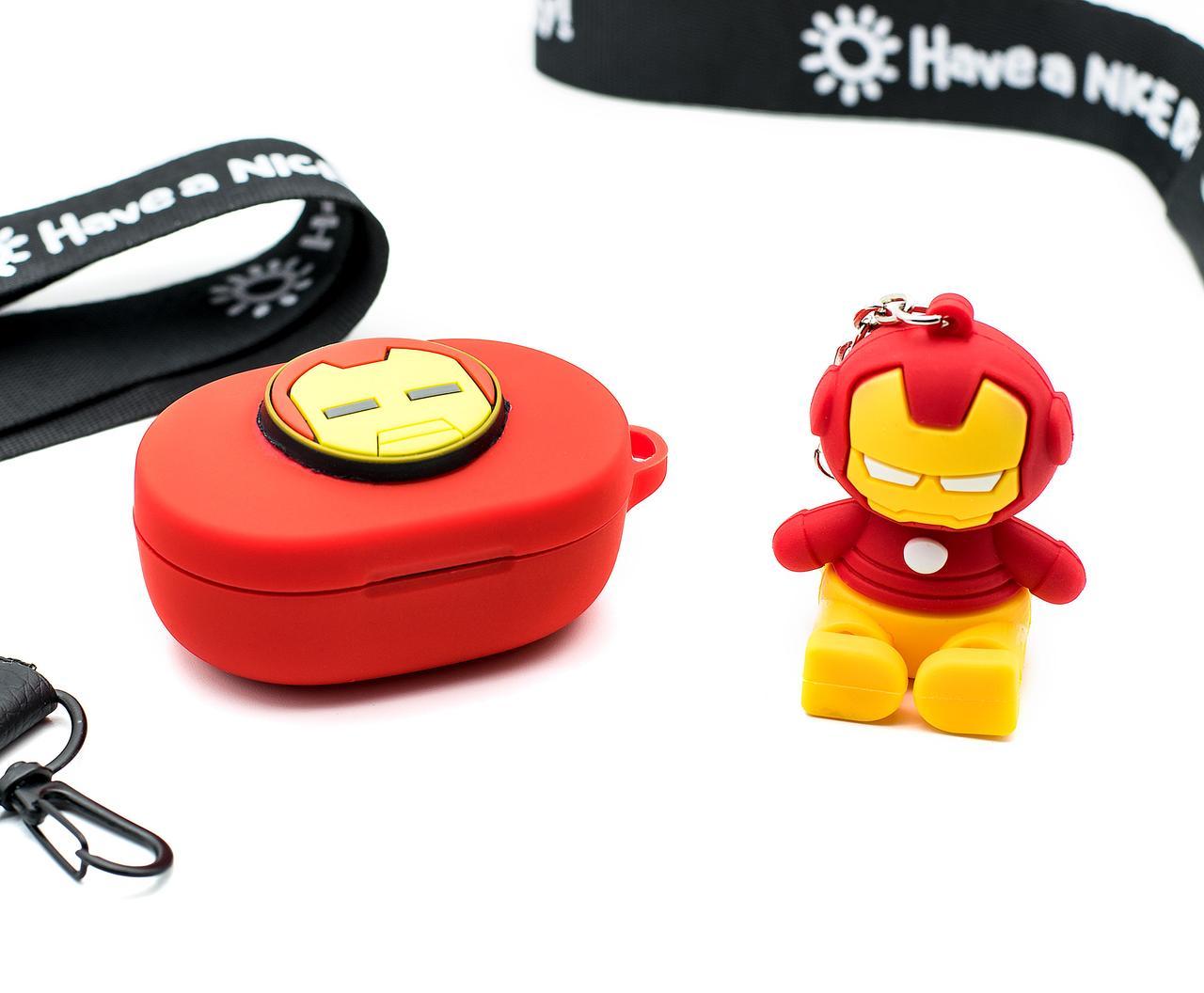 Силиконовый чехол для наушников Redmi Airdots - Iron Man