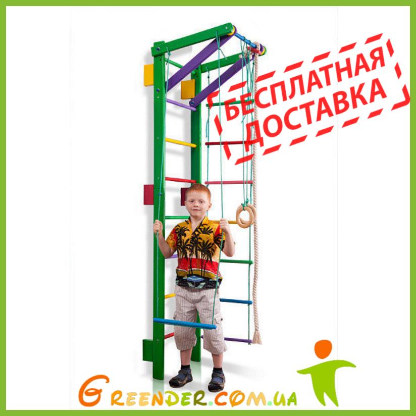Домашний спортивный уголок деревянный «Teenager-2-220 (green)»