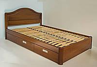 """Кровать в Мариуполе деревянная односпальная с ящиками """"Виктория"""" kr.vt4.1"""