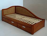 """Кровать в Мариуполе деревянная односпальная c ящиками """"Анна"""" kr.an4.2"""
