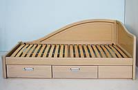 """Кровать в Мариуполе деревянная односпальная c ящиками """"Анна"""" kr.an4.3"""