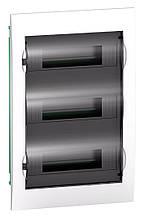 Schneider Electric Щит розподільчий білий двері прозора на 36 модулів IP40 Easy9 Врізний