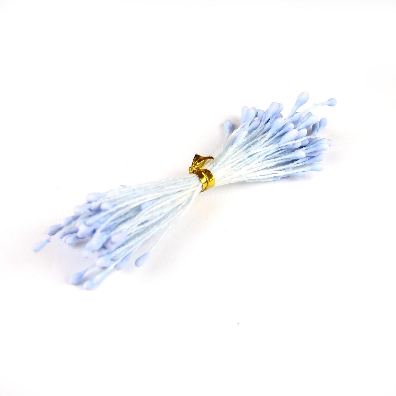 Тычинки матовые 2мм, голубой