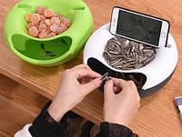 Миска для семечек, чипсов с подставкой для телефона Салатовая
