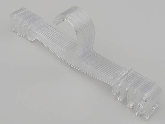 Плечики длина 21,5 см, в упаковке 10 штук. WBR цвет прозрачный, фото 2