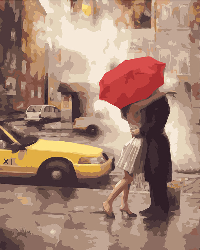 Картина по номерам BRUSHME Любовь в Нью-Йорке