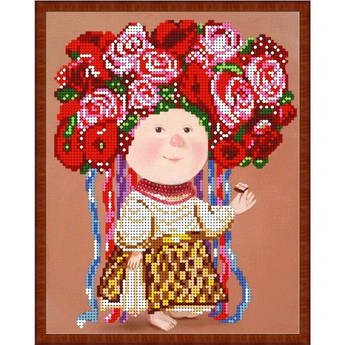 Вышивка бисером, Канва схемы картины Гапчинская В веночке