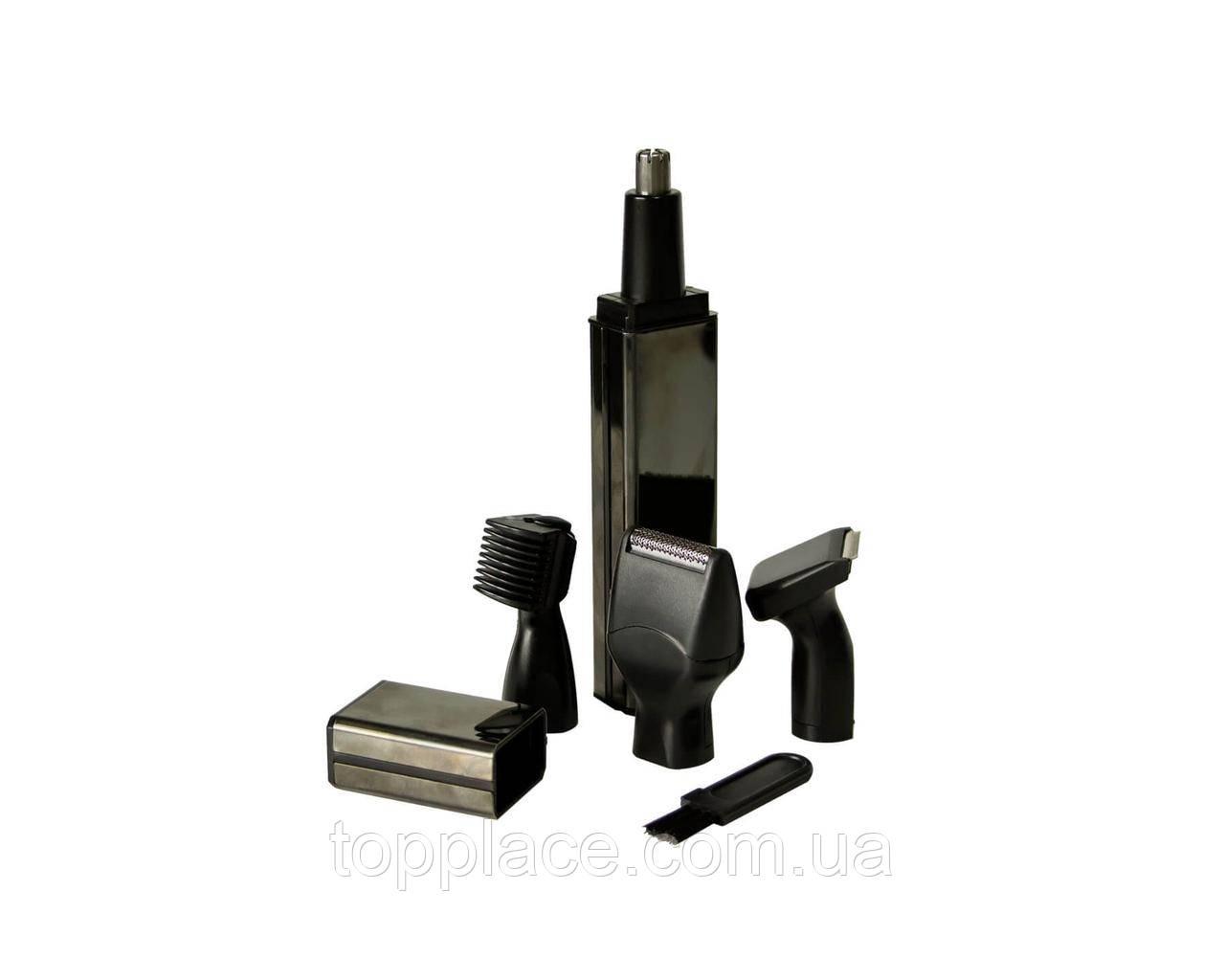 Аккумуляторный триммер-бритва 4 в 1 ProGemei GM-3116 для носа, ушей, бороды и висков