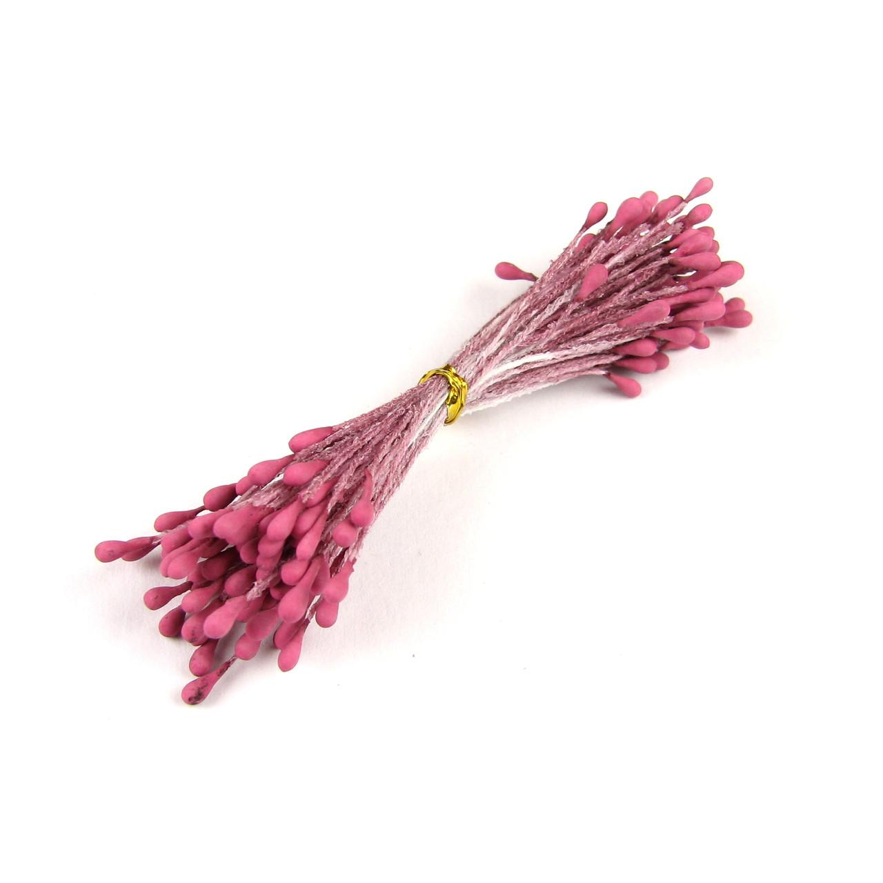 Тычинки матовые 2мм, темно-розовый