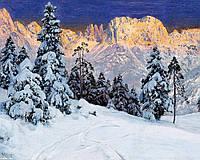 """Набор алмазной вышивки (мозаики) """"Зимний пейзаж в горах"""""""