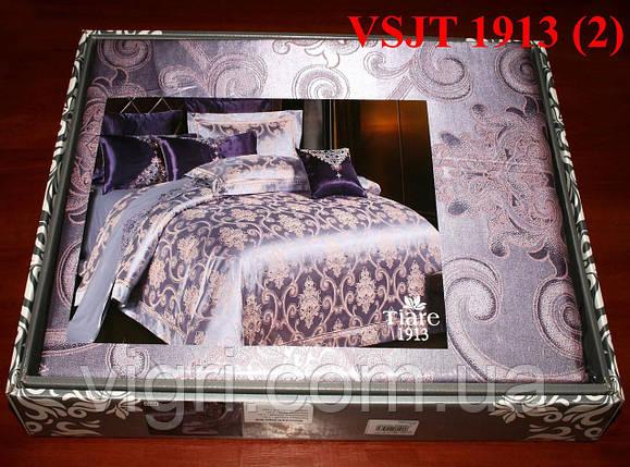 Постельное белье семейное, сатин жаккард Tiare Вилюта. VSJT 1913, фото 2