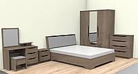 Спальня Сандра с кроватью со вкладами на буковых ламелях