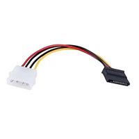 Перехідник живлення MOLEX IDE 4pin -> SATA 15pin кабель подовжувач, фото 1