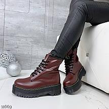 Бордовые ботинки женские, фото 3