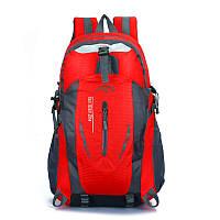 Спортивный туристический красный рюкзак для тренировок и туризма, городской рюкзак 35л, рюкзак для спортзала