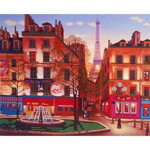 Вышивка схема бисером, Канва Город Пейзажи Вечерний Париж