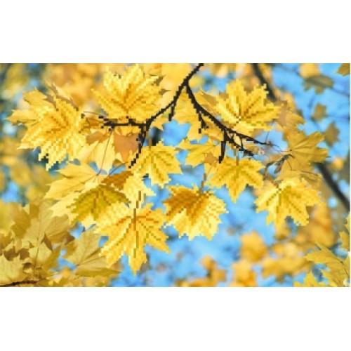 Вышивка пейзаж бисером,Канва схемы матренин посад 4143 цветы Ветка клена