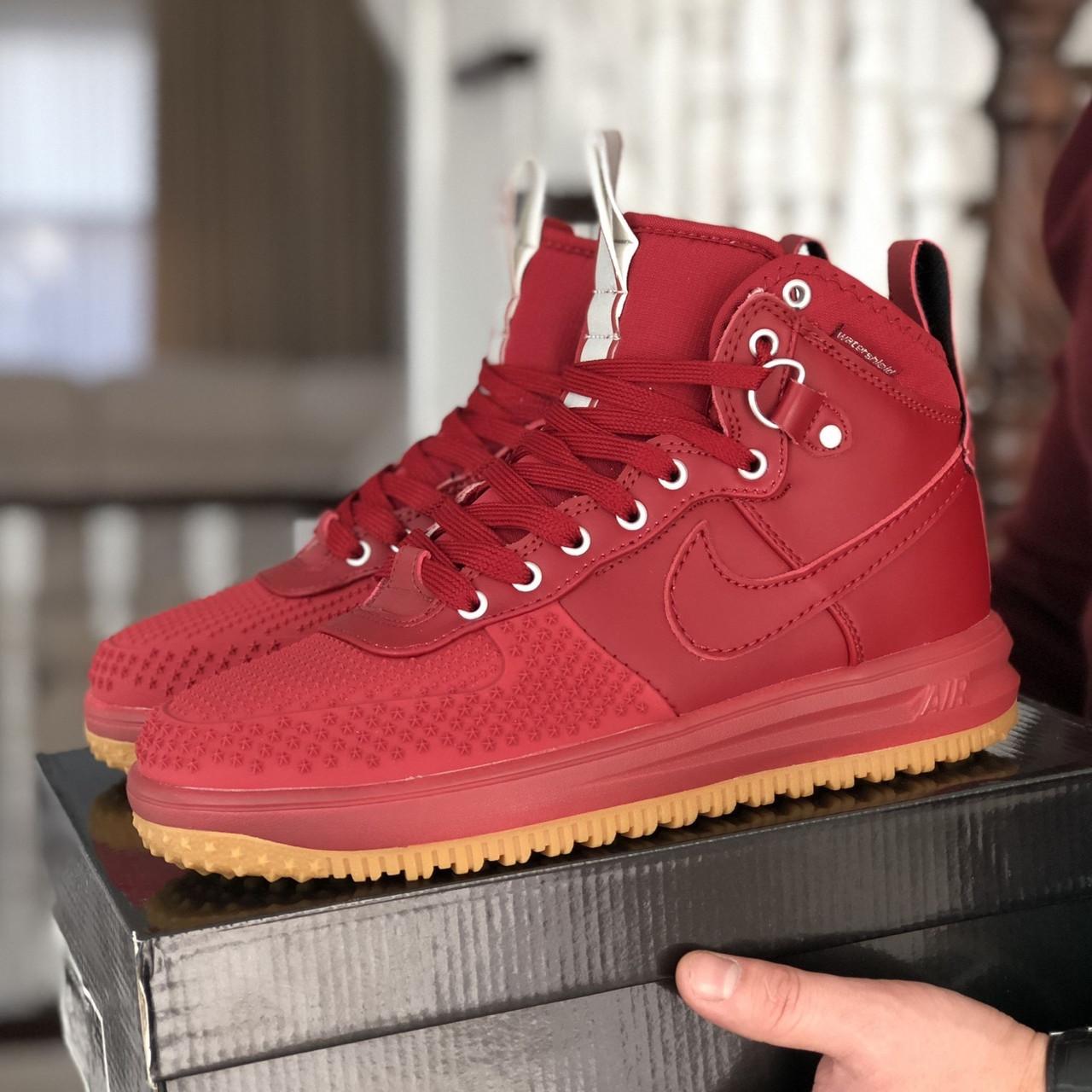 Мужские кроссовки в стиле Nike Lunar Force 1 Duckboot 16' Red