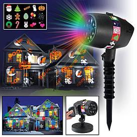 """Уличный проектор для праздников """"Slide"""" Star Shower Slide Show - Includes 12 Full"""