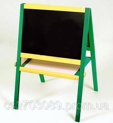 Мольберт 60х40х100 желто-зеленый, фото 2