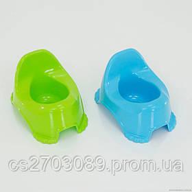 Горшок детский (голубой, салатовый)