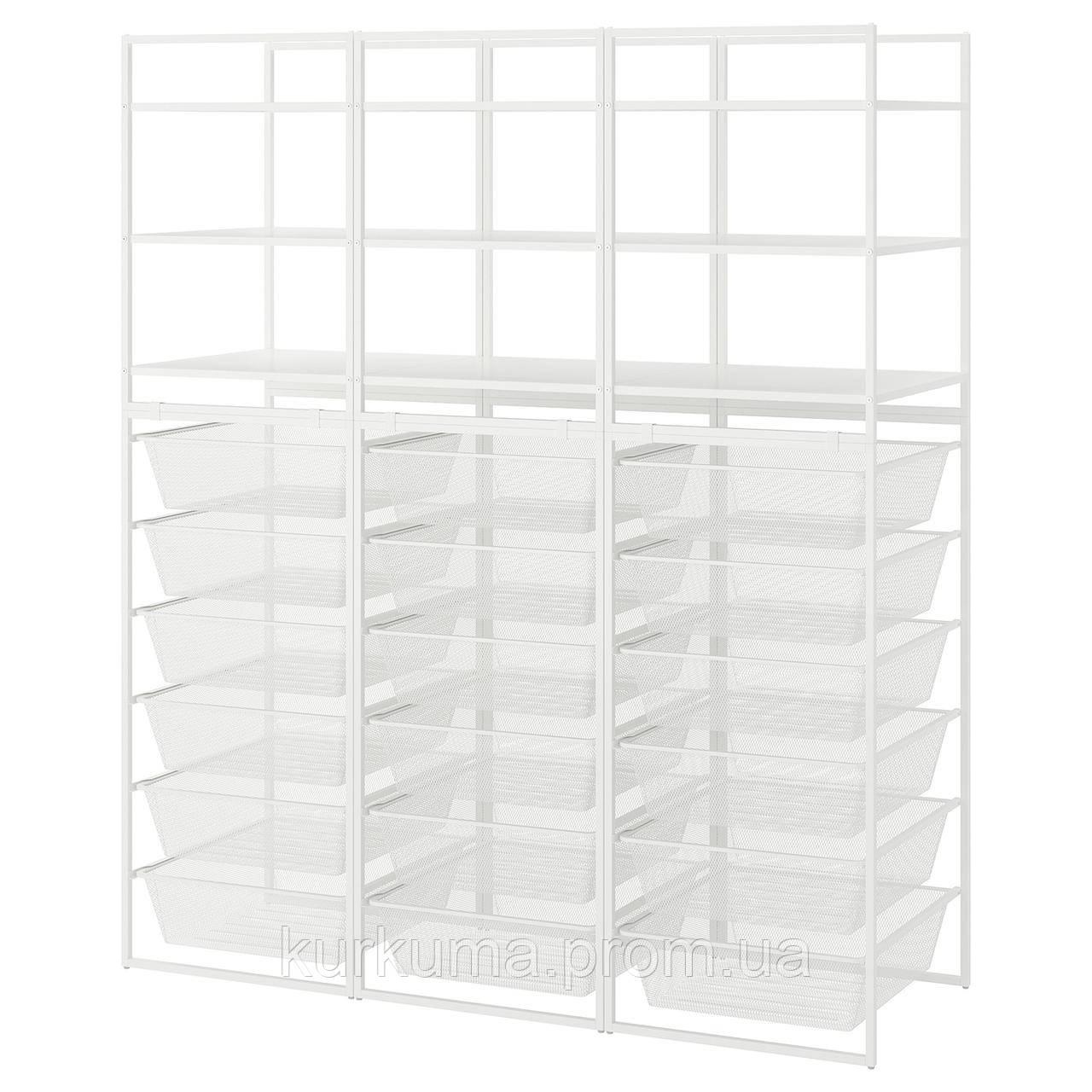 IKEA JONAXEL Стеллаж, 148x51x173 см (192.976.85)