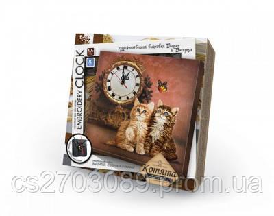 """Наб.д/ твор. """"Embrоidery Clock""""(гладдю) Котята, фото 2"""