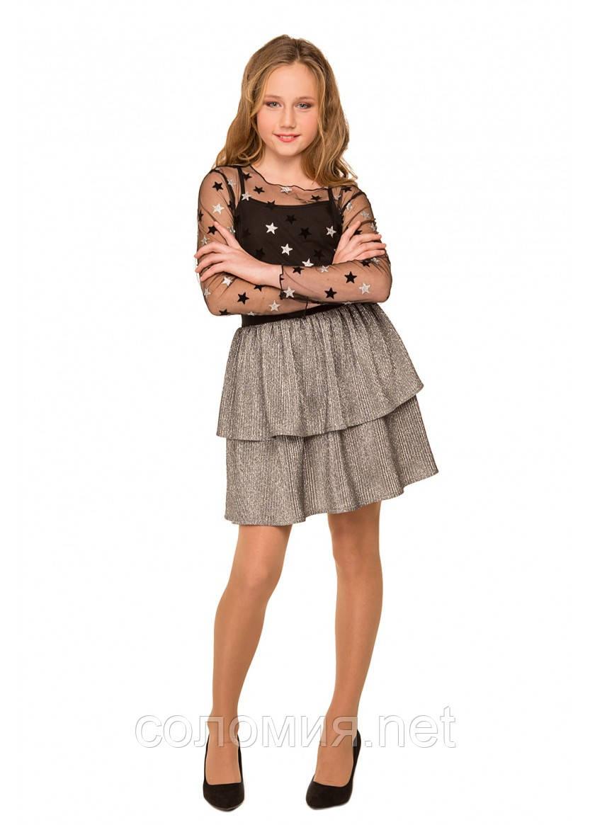 Праздничная искрящаяся юбка для девочки 134-152р