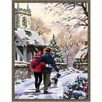 Вышивка бисером, Канва Новый год Зимняя прогулка