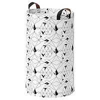 IKEA PLUMSA Корзина для белья, белая, черная, 60 л (604.531.35)