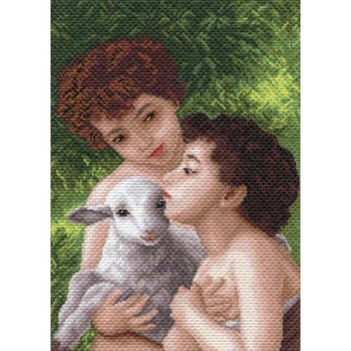 Дети и овечка