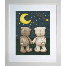Наборы для вышивания крестом Медвеженок Бруно и Бьянка Luca S