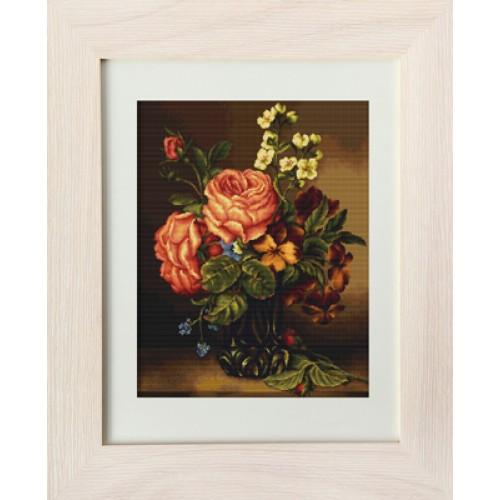 Ваза з трояндами і кольорами